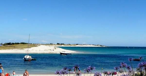 Paysage maritime des plages des 4 vents à Lesconil dans le Finistère